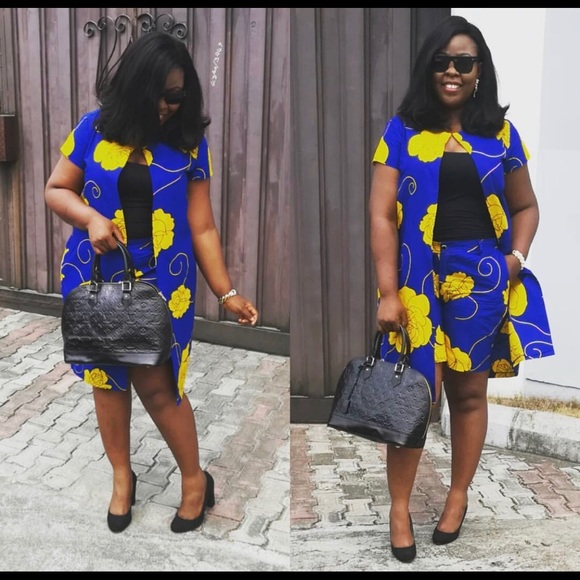 95d56e43882f9 Dresses   Womens African Prints 2piece Ankara Jacket Short   Poshmark